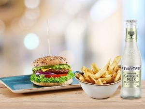 Wolpertinger Burger Combo with Fever-Tree Ginger Beer & Thick Cut Fries (U.P $36)
